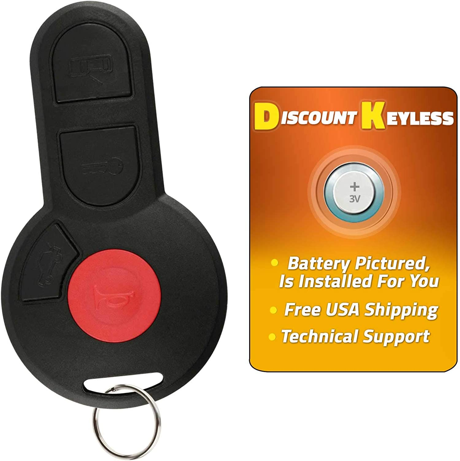 Pack of 2 KeylessOption Keyless Entry Remote Control Car Key Fob Replacement for VW M3GHU01WT