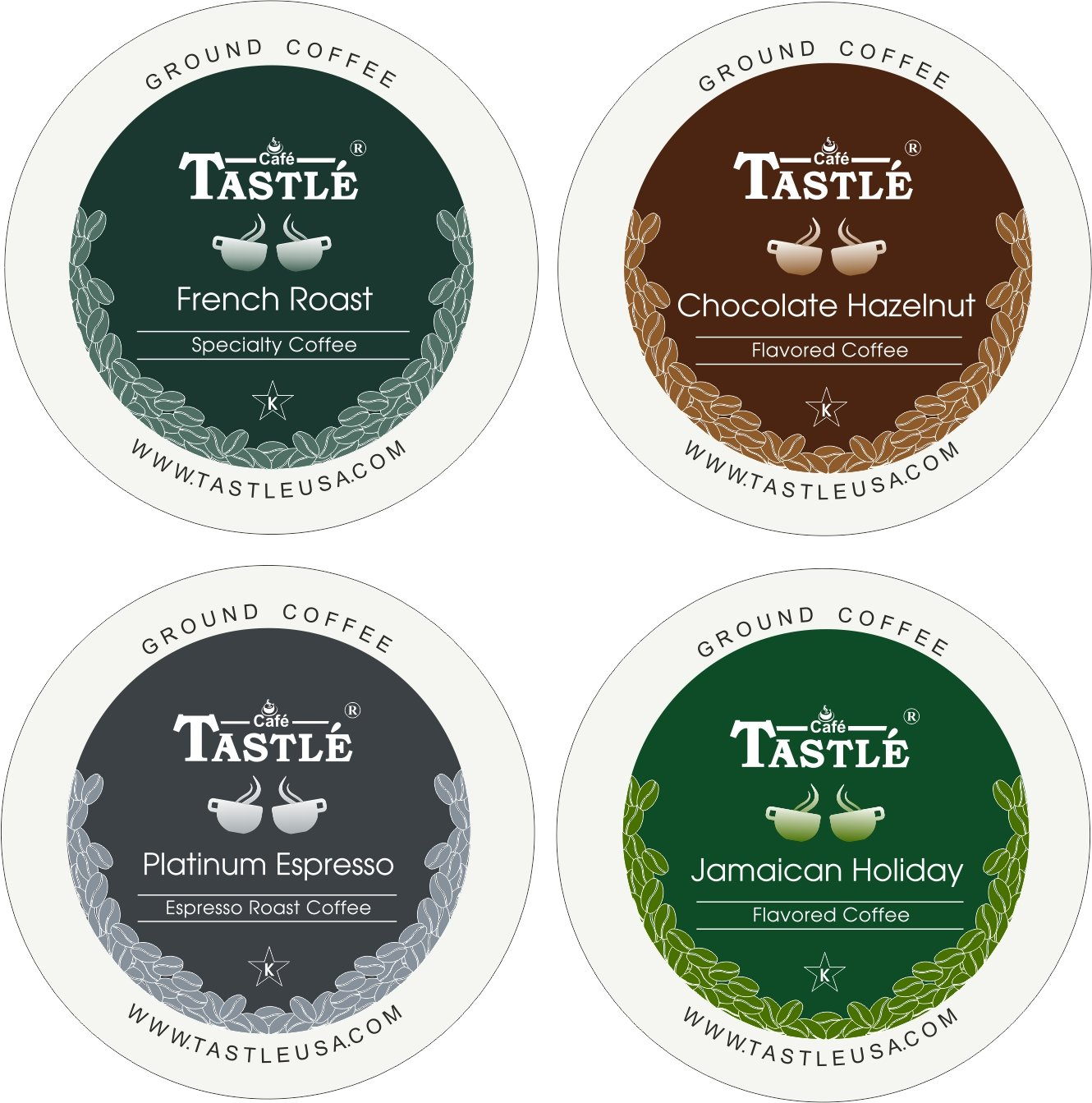 Amazon.com : Cafe Tastlé Variety Pack, 48 Count (Pack of 4) : Grocery & Gourmet Food