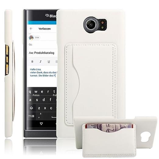 5 opinioni per HL Brothers Priv BlackBerry-Cover, custodia Flip a portafoglio in pelle