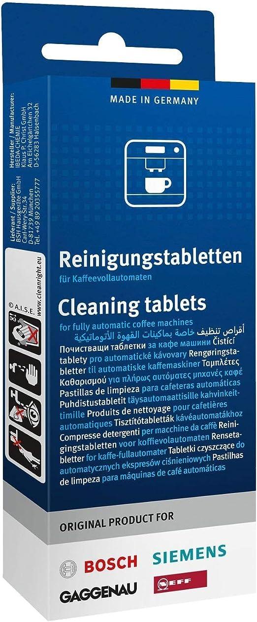 10 pastillas de limpieza originales de Bosch, Siemens, Neff ...