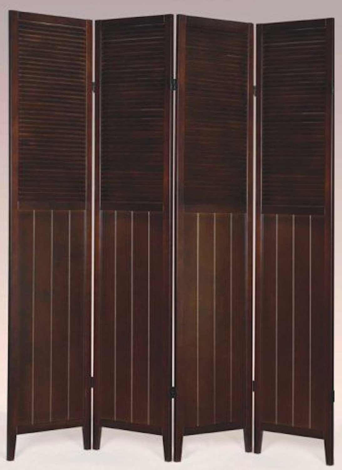 Amazoncom 4 Panel Wood Room Divider White Kitchen Dining