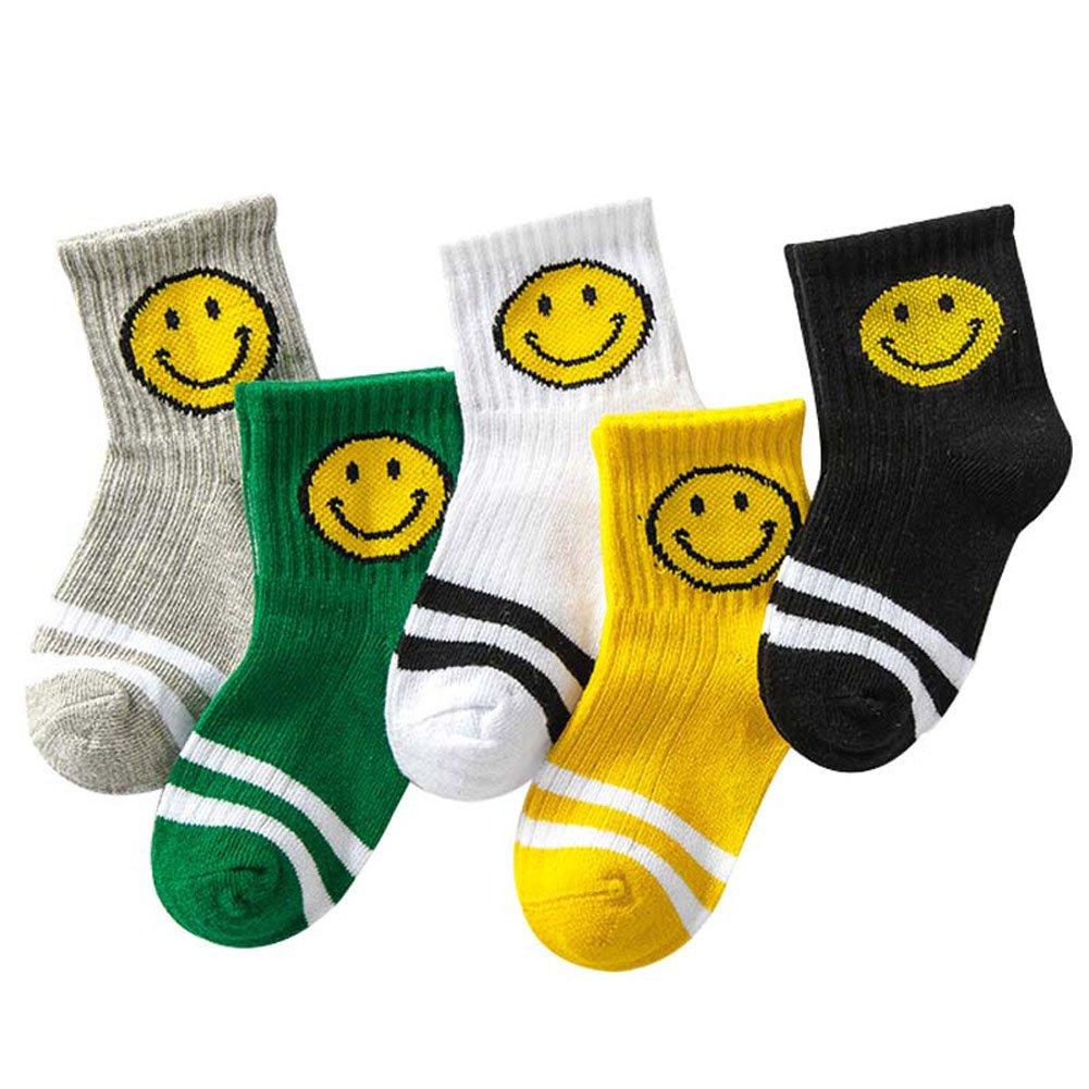 Calcetines para Niños, Chickwin Pack de 5 Pares de antideslizante Calcetines para Niños algodón rico (1 a 3 años de edad, pies de longitud 12-15cm)