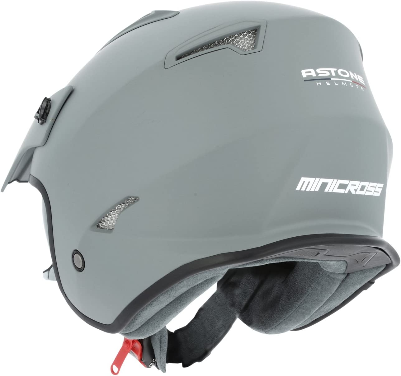 Casque de moto MINI CROSS monocolor gloss white XS casque de ville compact Casque jet au look enduro Casque de moto look cross Astone Helmets