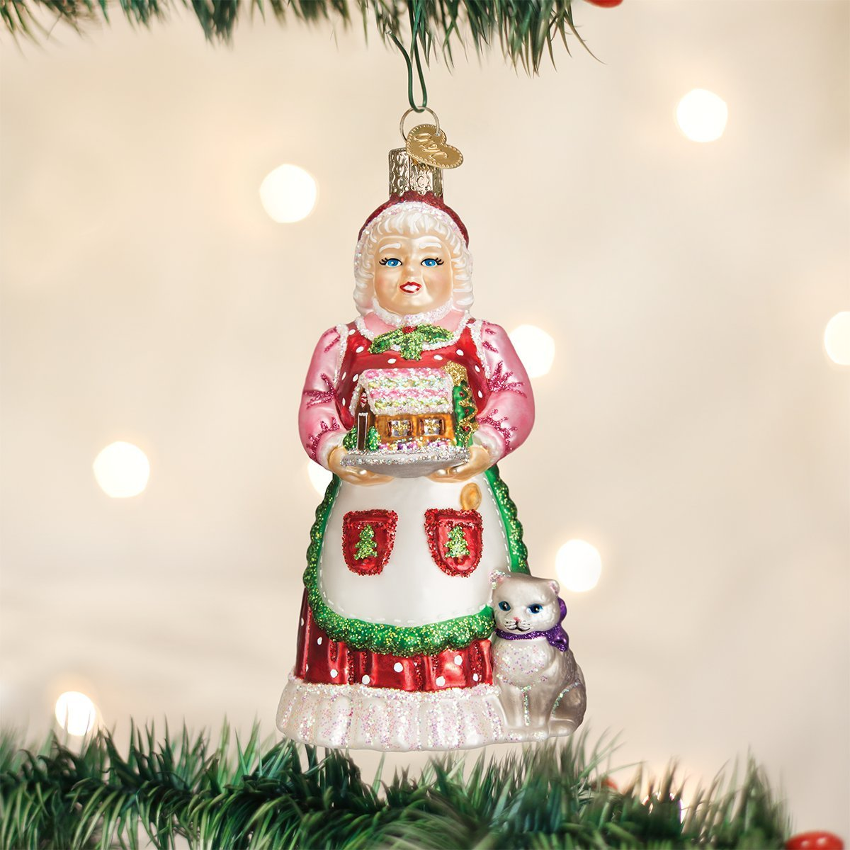 Old World Christmas Ornaments Mrs Claus Glass Blown Ornaments For Christmas Tree