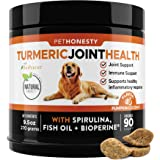 PetHonesty Turmeric Joint Health for Dogs - Arthritis Hip & Joint Supplement Soft Chews with Turmeric, BioPerine, Fish Oil &