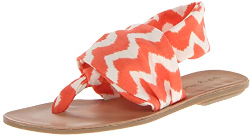2015 Newest M4106yx1741 Dirty Laundry Beebop Sandal Coral Sporty Print - Sandals For Women
