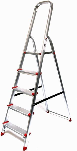 Alu-escalera 5-niveles, ECO, 180 x 48 x 22 cm, aluminio: Amazon.es: Bricolaje y herramientas