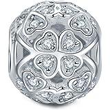 NINAQUEEN - Glücksklee - Damen Charm 925 Sterling Silber Nickelfrei Beads