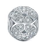 NinaQueen - Glücksklee - Damen-Charm 925 Sterling Silber