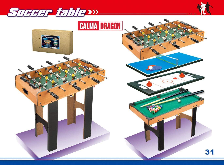 Calma Dragon Mesa Multijuegos Plegable 4 en 1 Billar, Ping Pong ...