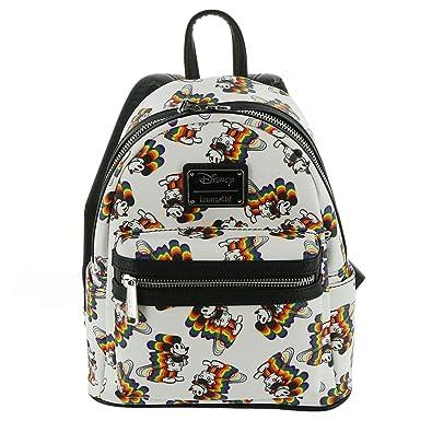 6da52119937 Amazon.com  Loungefly Disney s Mickey Mouse Rainbow Mini Backpack  Shoes