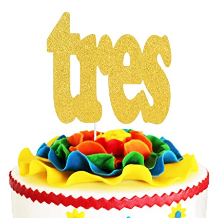 Swell Tres Fiesta 3Rd Birthday Cake Topper Spanish Fiesta Kids Three Personalised Birthday Cards Beptaeletsinfo