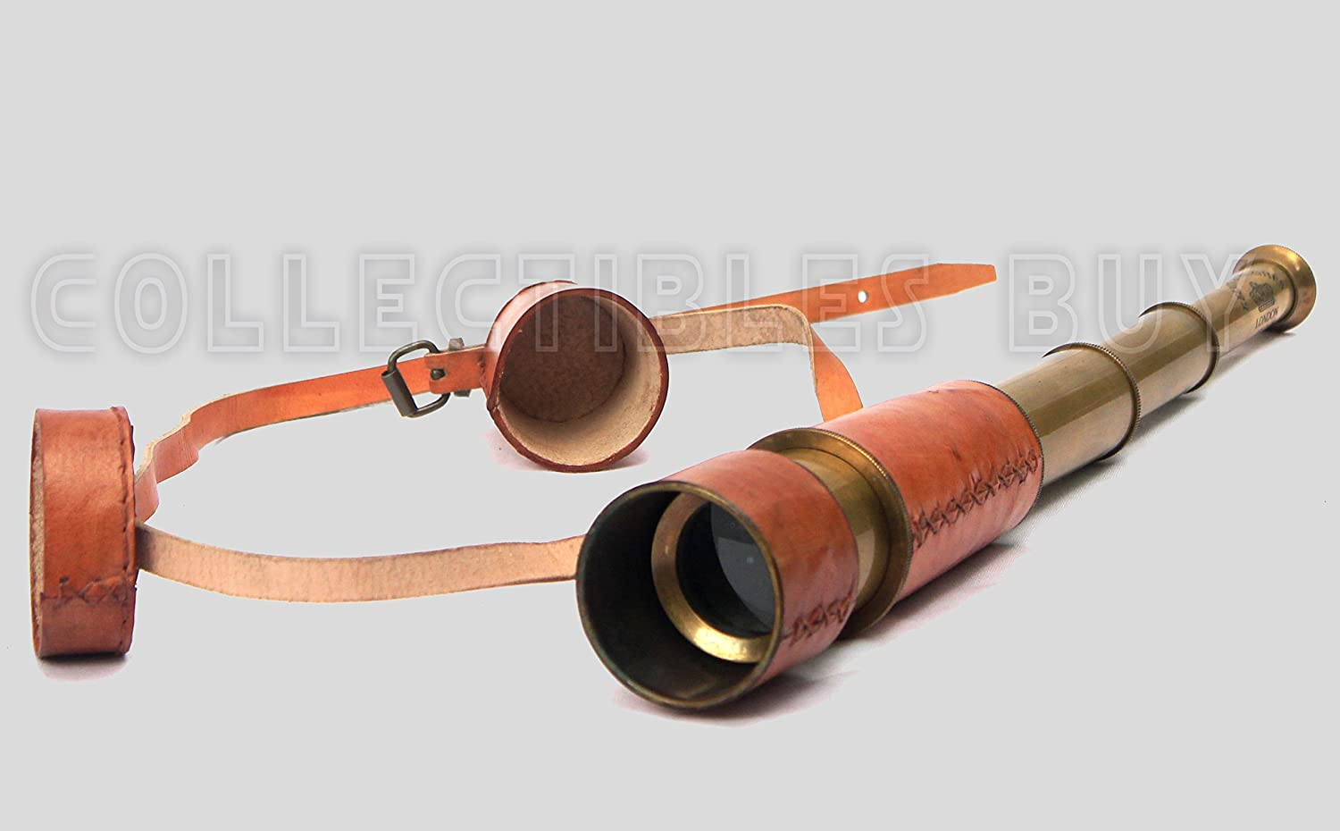 Collectibles buy Maritime Antique Royal Pirate Early Navy Leather Telescope Vintage Collection Item