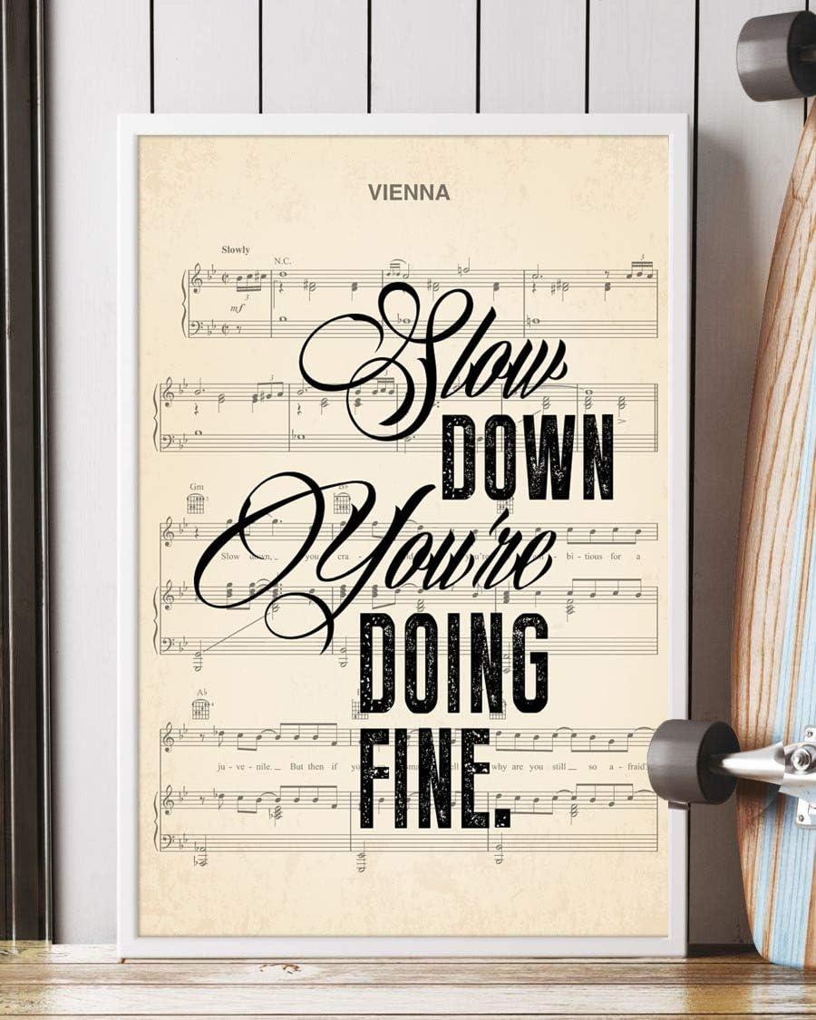 Trendora Decor Vienna Song Lyrics Portrait Poster Print (12
