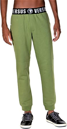 Versus Versace Iconic Pantalones De Chandal Para Hombre Color Verde Verde Large Amazon Es Ropa Y Accesorios