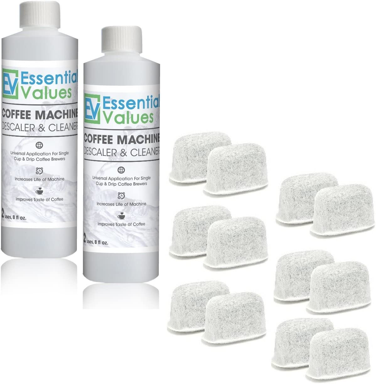Essential Values Universal Descaling Solution Designed 2 Pack // 4 Uses Total
