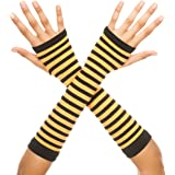 Music Legs Women's Opaque Stripes Arm Warmer