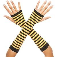 Music Legs Women's Opaque Stripes Arm Warmer