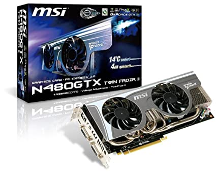 MSI N480GTX-TFII - Tarjeta gráfica (GeForce GTX 480, 1,5 GB ...