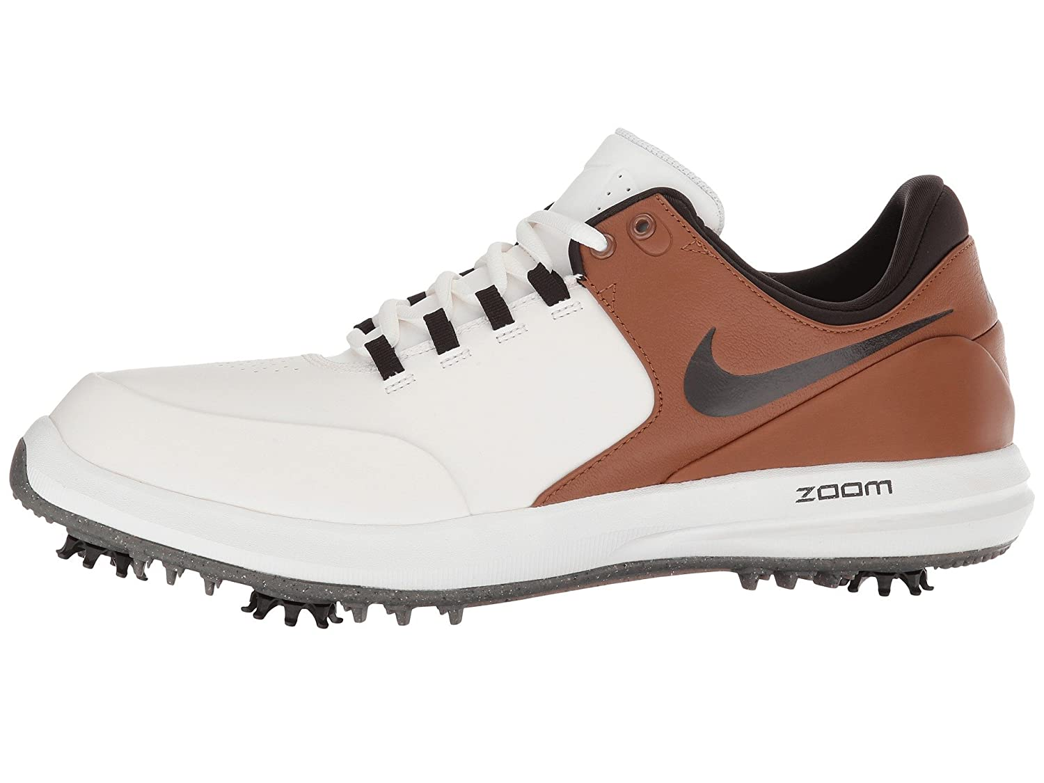 Nike Men s Golf Air Zoom Accurate Shoes 9 D US, Summit White Velvet Brown Light British Tan