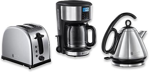 Russell Hobbs Legacy - Conjunto de utensilios para el desayuno (3 piezas: cafetera, hervidor y tostadora): Amazon.es