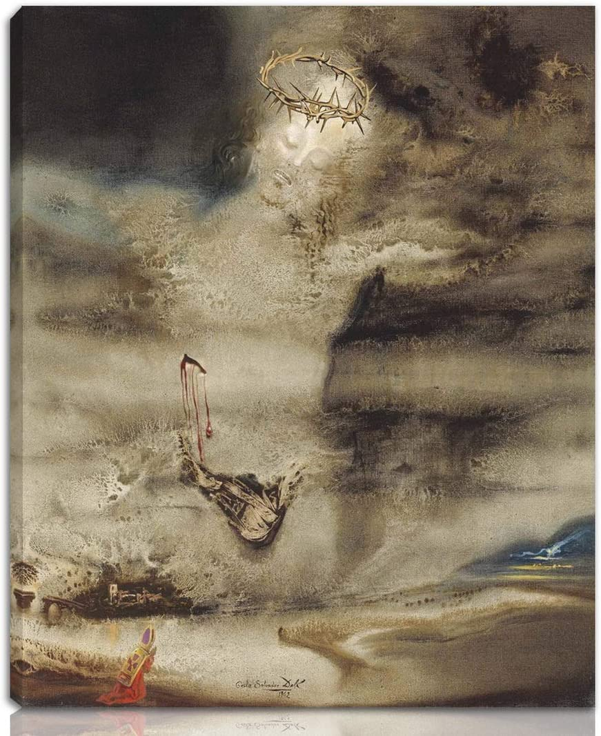 Berkin Arts Salvador Dali Stretched Giclee Print On Canvas-Famous Paintings Fine Art Poster-Reproduction Wall Decor Ready to Hang(Cristo Del Valles)#NK