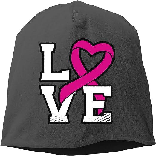Breast Cancer Ribbon Unisex Knitted Hat Beanie Hat Warm Hats Skull Cap Beanie Hat