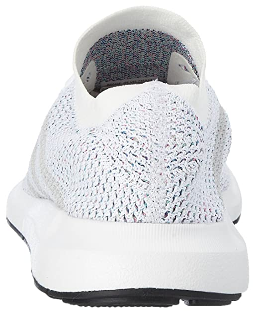 adidas uomini swift run pk, bianco / grigio / nero strada facendo