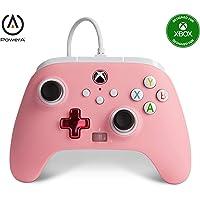 PowerA - Mando con cable mejorado PowerA para Xbox: en rosa, mando, mando para videojuegos con cable, mando de juego…