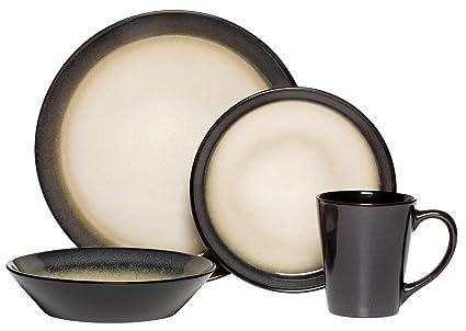 Pfaltzgraff Aria Gray 16-Piece Stoneware Dinnerware Set Service for 4  sc 1 st  Amazon.com & Amazon.com: Pfaltzgraff Aria Gray 16-Piece Stoneware Dinnerware Set ...