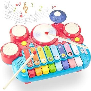 CubicFun Instrumentos Musicales Juguetes Bebes 1 año Piano ...