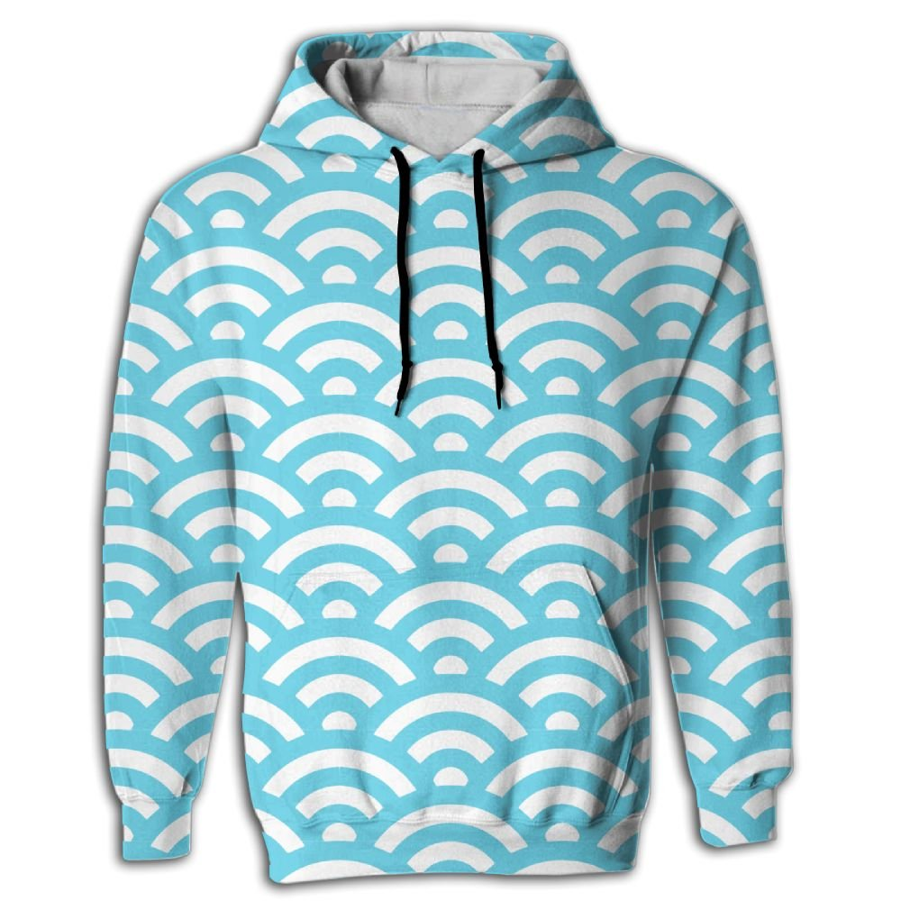 PanDe Blue Wave Stylish Design Sweatshirt Hoodies For Men