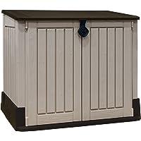 Keter 223995 Store It Out Midi - Cobertizo de Jardín Exterior, Color topo y beige