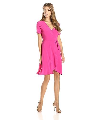 Star Vixen Women's Short-Sleeve Ballerina Wrap Dress