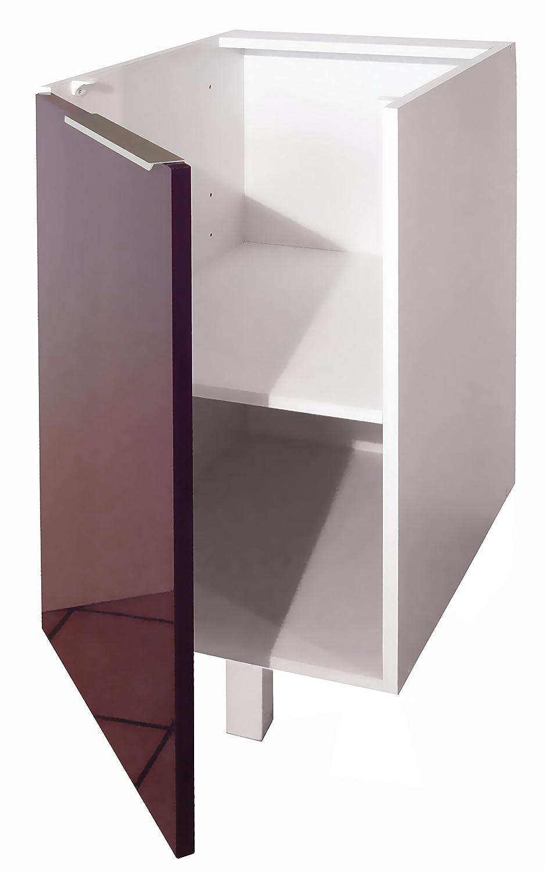 Berlenus Cp3ba Mobile Base Da Cucina A 1 Anta 30 Cm Colore  # Mobiletto Cucina Color Melanzana