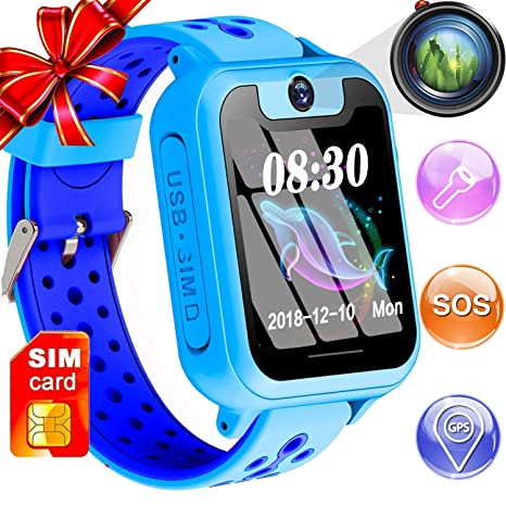 BOBO Teléfono Smartwatch para niños, reloj inteligente para ...