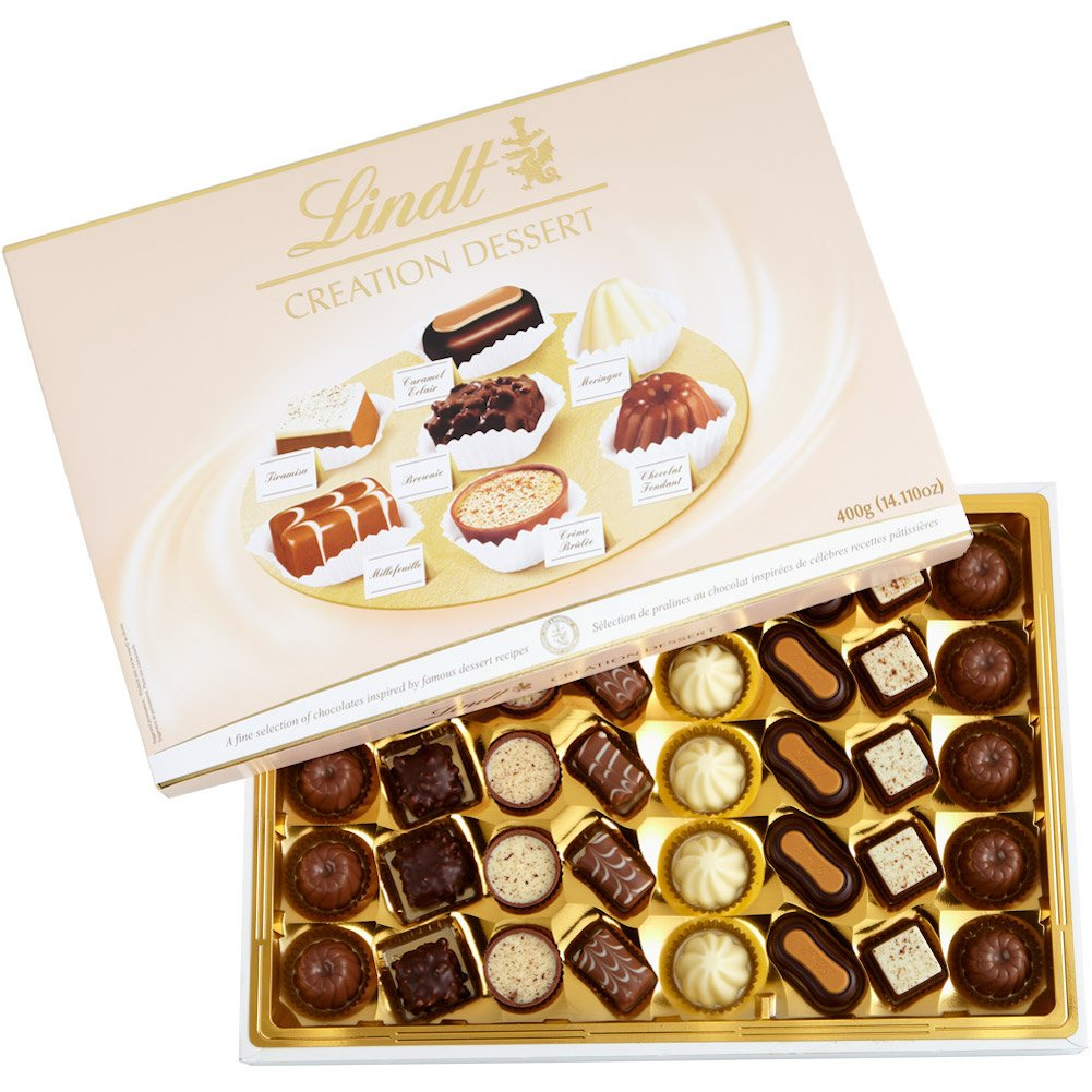 Lindt Creation Dessert, Assorted Chocolate Gift Box, Great for Holiday Gifting, 40 Pieces by Lindt