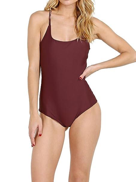 4784fce9c0a23 Amazon.com: MIKOH Kilauea One Piece Swimsuit, Wine, Large: Clothing