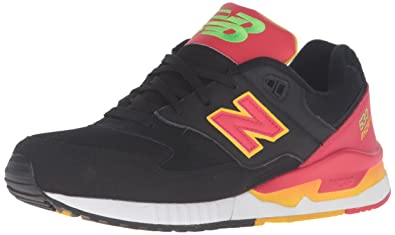 012f02cfaa1db New Balance Men's 530 Summer Waves Collection Lifestyle Sneaker, Black/Red,  ...
