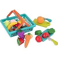 Battat BT2534Z Farmers Market Pretend Play Food and Cutting Board Playset (37 pieces)