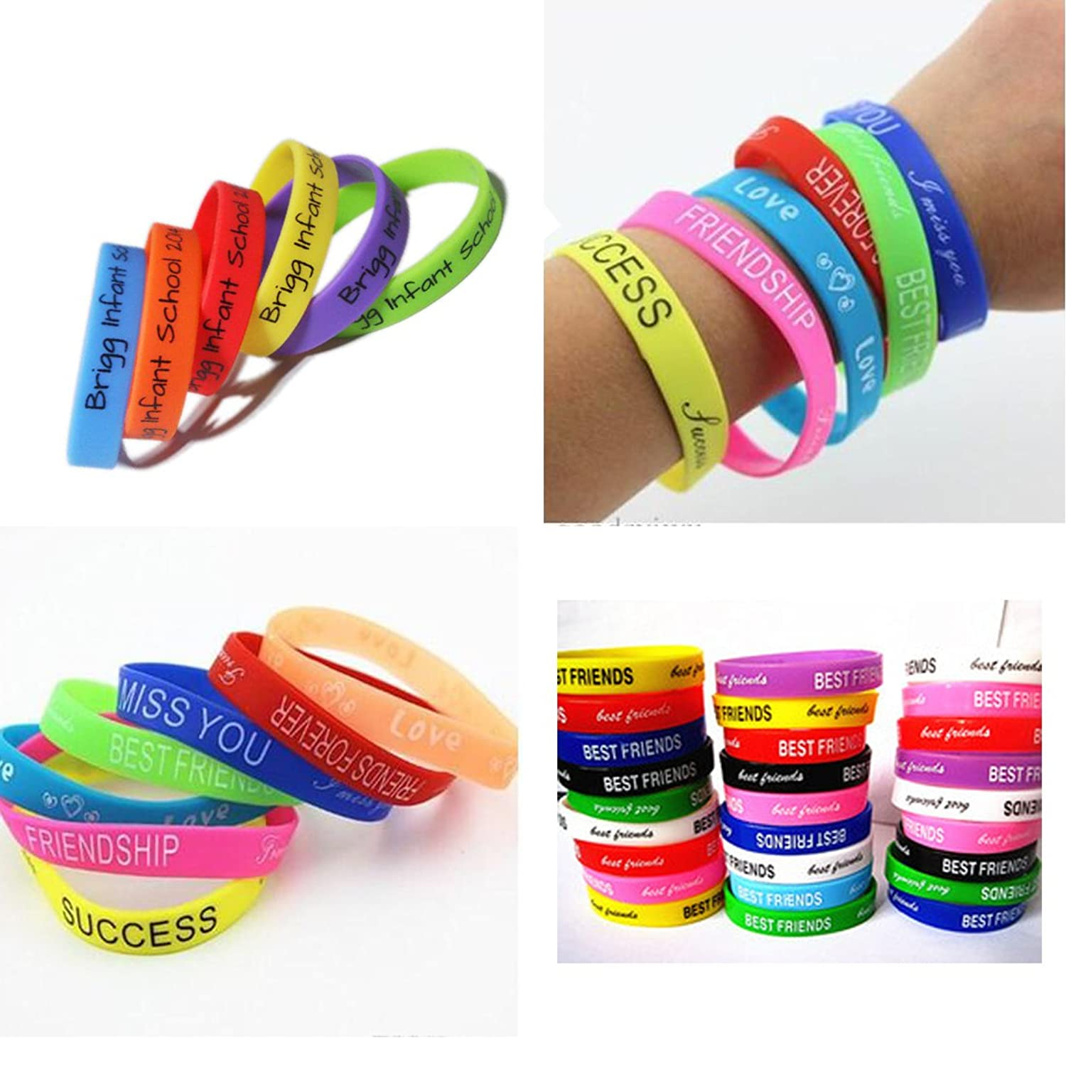 Casual Wrap 8 Friendship Band Rubber bracelet Mixed Fashion Candy