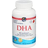 Nordic Naturals DHA Omega-3 - Brain and Nervous System Support Supplement, Strawberry...