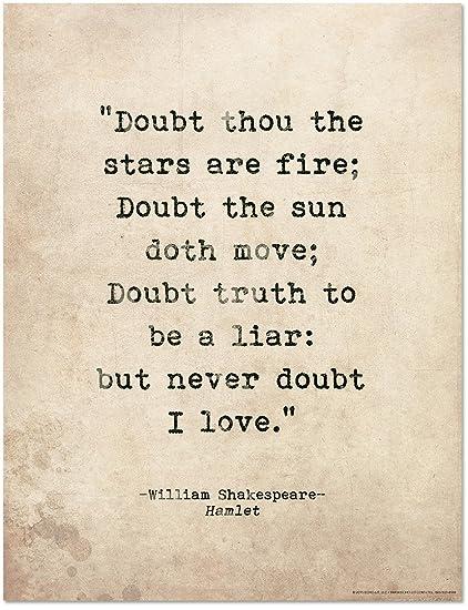 amazon com hamlet by william shakespeare romantic quote poster
