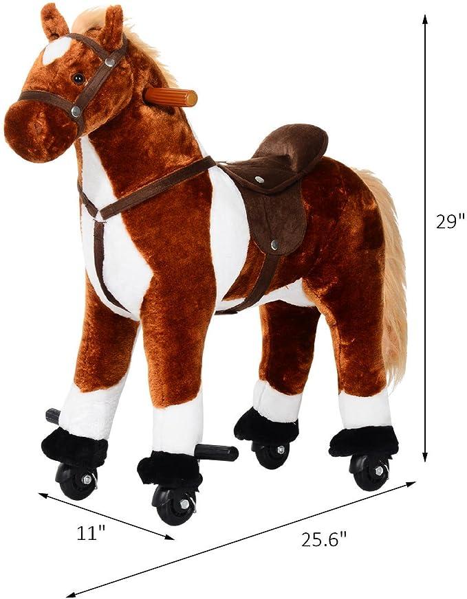 "Dala Horse Stuffed Animal Plush Toy Red Kids Toy 9/"" long x 10/"" tall x 3/"" wide"