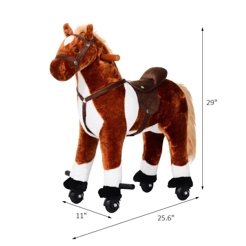 Amazon.com: Qaba Kids Interactive Plush Mechanical Walking Ride On