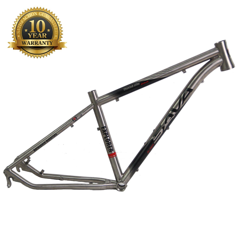 Amazon.com : SAVADECK Titanium MTB Bike Frame 26/27.5 inch Titanium ...