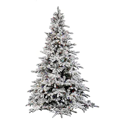 vickerman 75 flocked utica artificial christmas tree with 700 multi led lights