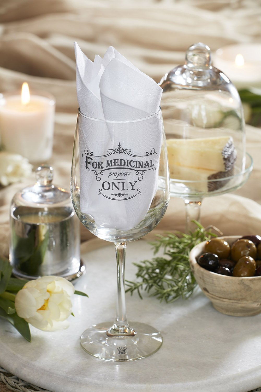 Amazon.com: JKC Studios Long Stem Wine Glass, For Medicinal Purposes ...