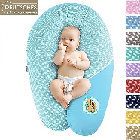 Almohada de enfermería, cojín de Lactancia,Marca SeiDesign XXL 190 x 30 cm, Que consiste en el llenado de Bolas de Fibra - Muy Suave y cómodo. Cierre ...