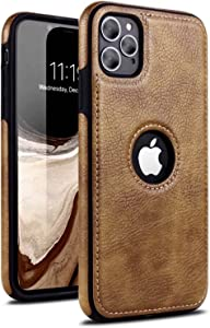 N.N Compatible for iPhone 11 Pro Max Leather case Luxury and Elegant Looks for Your iPhone (i Phone 11 pro max, Brown)